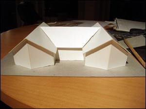 Modell av villa